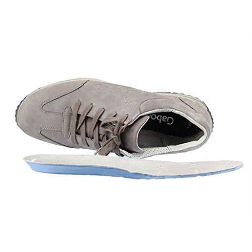 Gabor Comfort Basic, Baskets Femme gris foncé