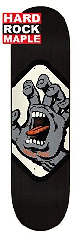 Santa Cruz Skate Screaming Hand Badge Hard Rock Ahorn 20,3x 80,3cm Skateboard Deck (Screaming Hand Von Santa Cruz)