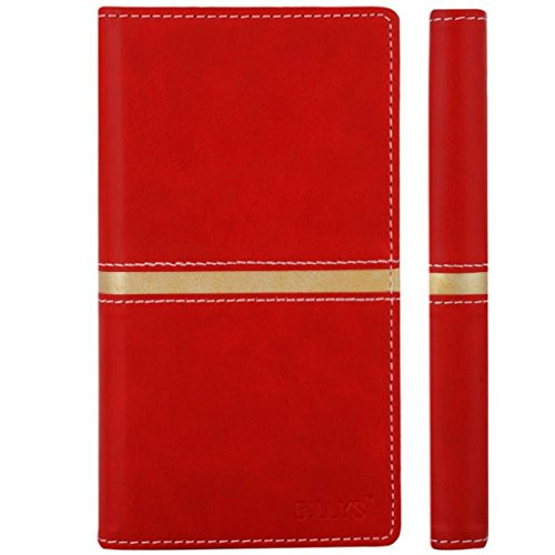 BILLYS Premium Designer Leather Flip cover for Intex Aqua N4 (RED/GOLDEN) (Top Quality Leather, Slider for Taking Photos, 2 Card Slots, Multi Color)  available at amazon for Rs.499