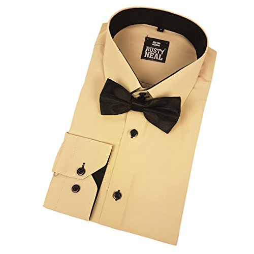 44--Bow-Tie-Shirt-Business-Shirt-Bow-Tie-Suit-Wedding-Casual-Oversize-Fit