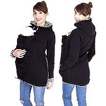 8767d2de658a Hiver Maternité Veste Porte Bébé 3 en 1 Multifonctionnel Hoodies Chaud  Kangourou Sweat-Shirt Imperméabiliser