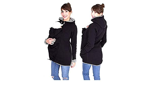 Hiver Maternité Veste Porte Bébé 3 en 1 Multifonctionnel Hoodies Chaud  Kangourou Sweat-Shirt Imperméabiliser,S  Amazon.fr  Cuisine   Maison b7343d5d499
