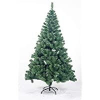 Bravich® 7FT / 210CM GREEN Christmas Tree 800 Tips PVC Artificial Tree with Metal Stand Indoor Xmas Decoration Easy Fold Branch
