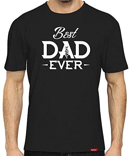 HARIZ  Herren T-Shirt Papa Collection 36 Designs Wählbar Schwarz Vatertag Weihnachten Männer Geschenk Karte Urkunde Papa08 Dad Ever 5XL