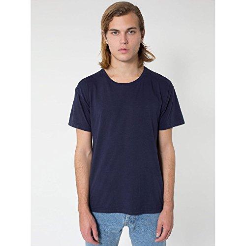 american-apparel-unisex-power-wash-t-shirt-mit-rundhalsausschnitt-kurzarm-large-marineblau