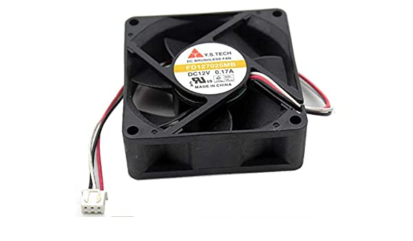zyvpee 70x70x25mm FD127025MB 7cm 12V 0.17A 3Wire 70mm 7025 Projector Fan