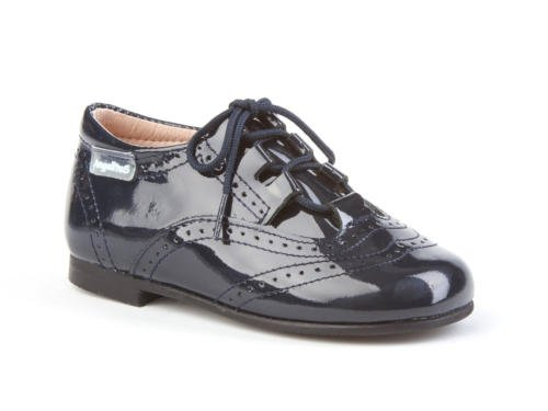 ANGELITOS Zapatos Inglesitos Charol Para Niños Todo Piel Mod.1505. Calzado Infantil Made In Spain...