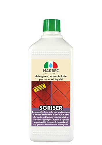 Marbec - sgriser 1lt | detergente decerante forte per materiali lapidei
