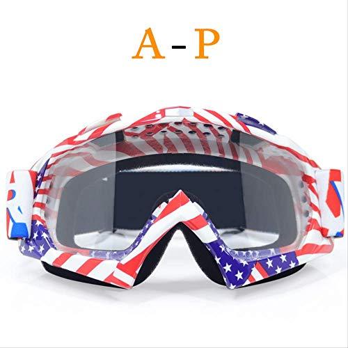 XYQY brille New Goggle UV Schutz Streifen Gafas Moto Motorrad Brille Motocross Brille Ski Cross Country Flexible Dirt Bike BrilleJ2