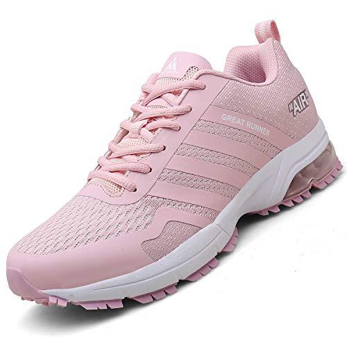 Mishansha Air Sportschuhe Damen Laufschuhe Dämpfung Turnschuhe Joggingschuhe Straßenlaufschuhe Sneaker Schuhe Stil 3:Pink 39 EU - Damen Pink Schuhe