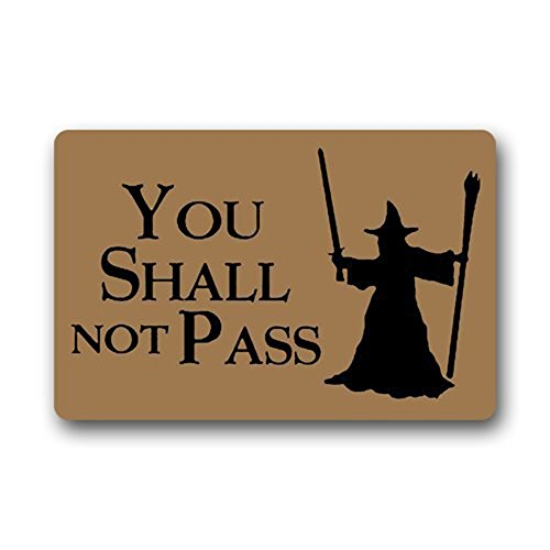 You Shall Not Pass Custom Fußmatten,40x60cm,Braun