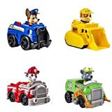 Race to the ruff-ruff rescue with Paw Patrol Rescue Racers 4-pack! With real working wheels, Chase, Marshall ,Rubble and Rocky race into action. Cruise with the Paw Patrol by collecting all of the Paw Patrol Racers. Together, your child's imagination...