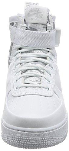 Nike Sf Af1 Mid Prm, Scarpe da Ginnastica Uomo Bianco