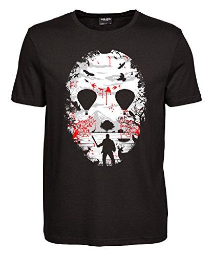 makato Herren T-Shirt Luxury Tee Crystal Lake Black