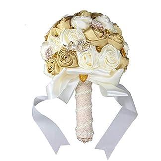 Fouriding 2 Piezas de Ojal Flor + Flor de Muñeca Broche de la Flor Artificial Para la Novia de Dama de Honor