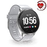 YoYoFit Egde Plus Pulsera de Actividad Inteligente, podómetro con Pulsómetros, Impermeable IP67 Reloj Inteligente para Mujeres, Hombres, niños, Gris
