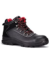 Black Hammer Mens Safety Boots Waterproof Leather Steel Toe Cap Work Shoes Ankle Footwear S3 SRC 7777
