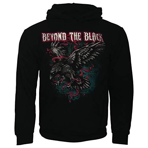Beyond The Black Herren Pullover Hoodie Kapuzenpullover Fanartikel Merch Midnight Raven Schwarz (L) (Raven Feuer)
