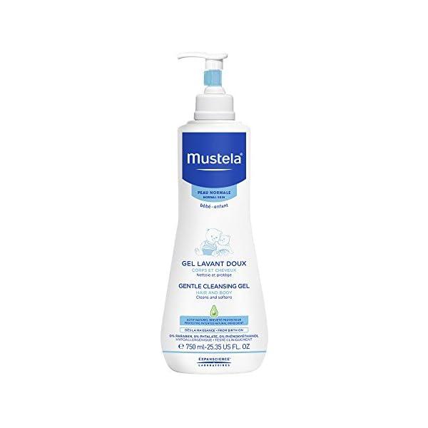 Mustela – Gel dermolimpiador lavante sin jabón cabello y cuerpo, 750 ml