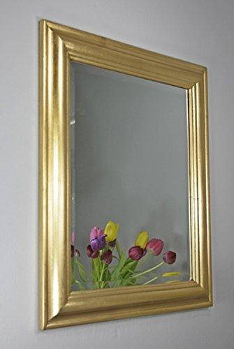 Espejo-62-x-52-cm-espejo-de-pared-sencillo-Madera-Rstico-Marco-de-madera-bao-Espejo