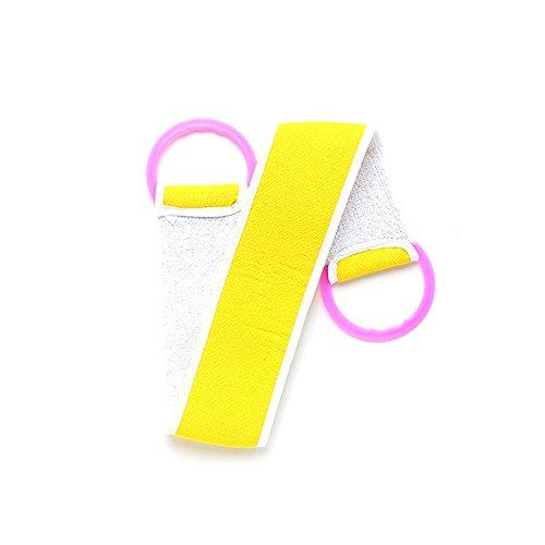 LamberthcV Komfortabler Rückenbürste, Gürtel für Bad-Peeling, Badetuch, Peeling, Schwämme für Körper, Badezimmer-Accessoires, Körperwasch-Handtuch gelb gelb