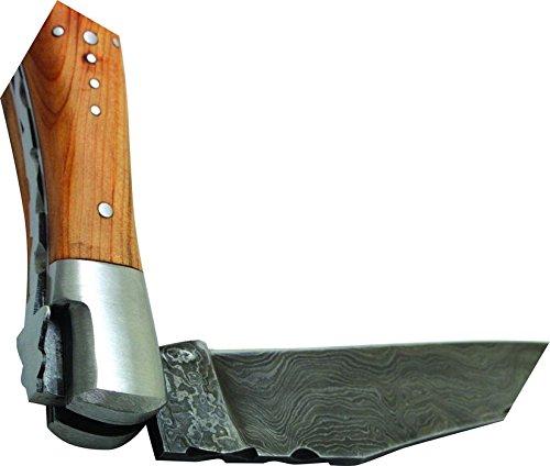 Laguiole Taschenmesser 12 cm, Damastklinge, Wacholdergriff