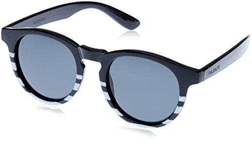 Paloalto Sunglasses Newport Sonnenbrille Unisex Erwachsene, Matte Black/Stripped White