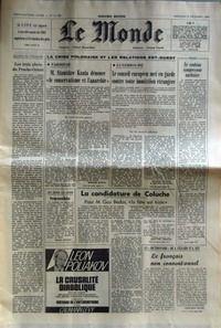 MONDE (LE) [No 11148] du 03/12/1980 - LES 3 ABCES DU PROCHE-ORIENT - LA CRISE POLONAISE ET LES RELATIONS EST-OUEST - VARSOVIE - M. STANISLAW KANIA - LUXEMBOURG - LE ROULEAU COMPRESSEUR NUCLEAIRE - LA CANDIDATURE DE COLUCHE - GUY BEDOS - J. CELLARD ET A. REY.