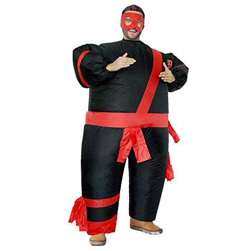 OLLVU Erwachsene Halloween Ninja Aufblasbare Cosplay Kostüm Mall Event Performance Styling Maskerade Party Kleidung Bar Spaß Leistung Requisiten (Color : Black, Size : - Aufblasbare Ninja Kostüm