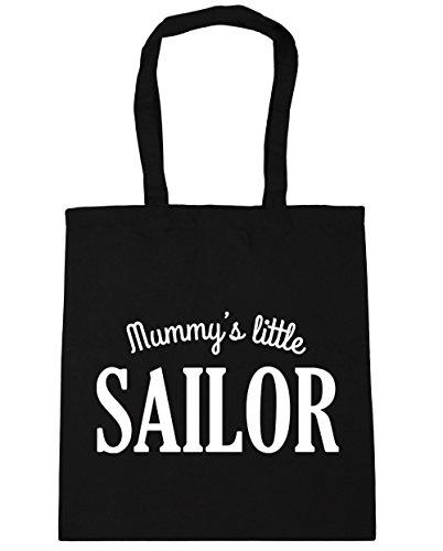 hippowarehouse Mummy 's Little Sailor Tote Shopping Gym Beach Bag 42cm 3838, 10Liter, schwarz, One Size (Schwarz Tote Kompass Bag)