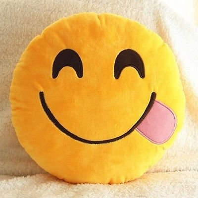 Soft-Cushion-Pillows-Emoticon-Round-Yellow-Emotion-Expression-Cushion-Blowing-Kiss-NaughtyLots-of-Designs-Uk-Seller-Same-Day-Dispatch-Glutton1-Yellow