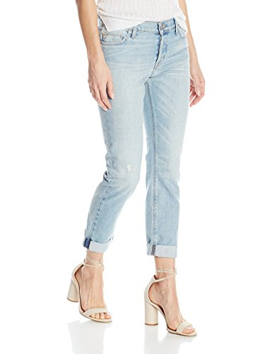 Hudson Jeans Women's Riley Crop Relaxed Straight, Heavy Hitter, 31 Hudson Flare Jeans
