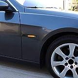 WUYANSE Luce di Posizione Anteriore a LED con Lente Fumatore con Attacco OE Gratuito per BMW Serie 1 3 5, ECC, Colore Giallo Chiaro