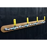 Industrial Coat Hook - 4 Hooks - Coat Rack - Wall Mounted - 2 Hook and 4 Hook Options