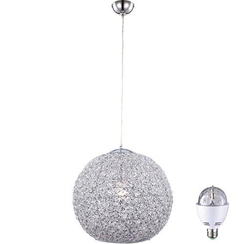 LED Disco Kugel Hänge Leuchte Farbwechsel Pendel Lampe Party Raum Decken Beleuchtung (Beleuchtung Kugel Disco)