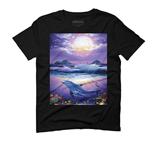 Heavenly Ocean Men's Graphic T-Shirt - Design By Humans Black