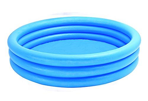 Intex Kinderpool 3-Ring-Pool Crystal Blue, Blau, Ø 147 cm - Kurze, Mülltonne Breite