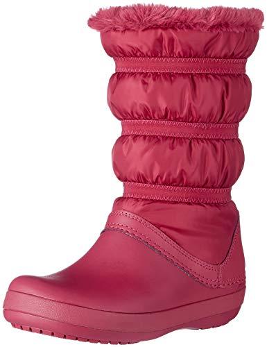 crocs Damen Crocband Winter Boot Women Schneestiefel, Rot (Pomegranate), 42/43 EU