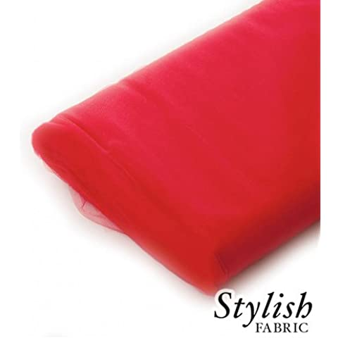 Red Tulle Fabric - 40 Yards Per Bolt by Stylishfabric - Tessuto Di Tulle Bolt