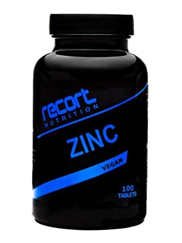 AKTION!!! Recort Nutrition Zink, Vegan, 100 Tabletten, Hergestellt in Deutschland