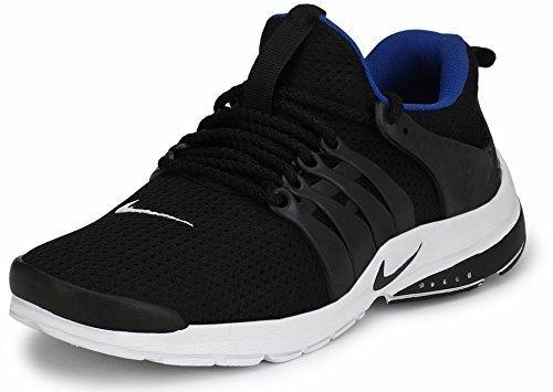 JARASA Men\'s Mesh Sports Running/Walking/Gym Shoes (8, Black)