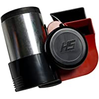 RED Chrome Silver Black Loud Motorcycle 12V Air Horn Euro Blast Euroblast for Harley Davidson & other bikes (Made in Italy) 139db + - Blast Air Horn
