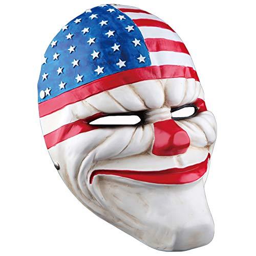 Clown Räuber Kopf Maske Neuheit Erwachsene Helm Hut Halloween 27 * 21 cm Dekoration Karneval Dekoration Emulsion Schaum (Limited Edition),A