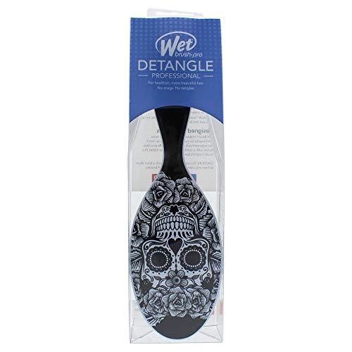 Wet Brush Sugar Skull, schwarz-weiß - Brush Wet Paddle