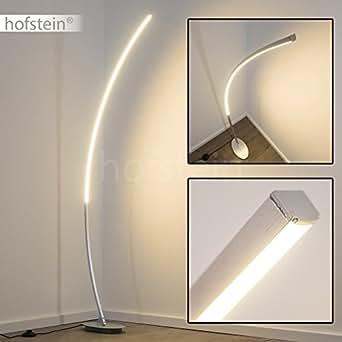 led stehleuchte elegante standlampe mit warmweissem licht 300 kelvin 11 watt und fu schalter. Black Bedroom Furniture Sets. Home Design Ideas