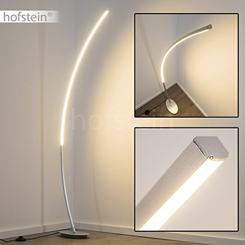 Lampada da terra led design minimale- lampada a stelo moderna con interruttore a pedale- luce bianca calda ideale come piantana salotto