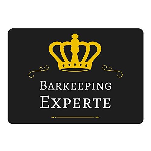 Mousepad Barkeeping Experte schwarz