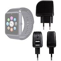 DURAGADGET Cargador Con Enchufe Europeo Para Smartwatch Mobiper G08 / Wiseup GT08 - Con Doble Entrada USB