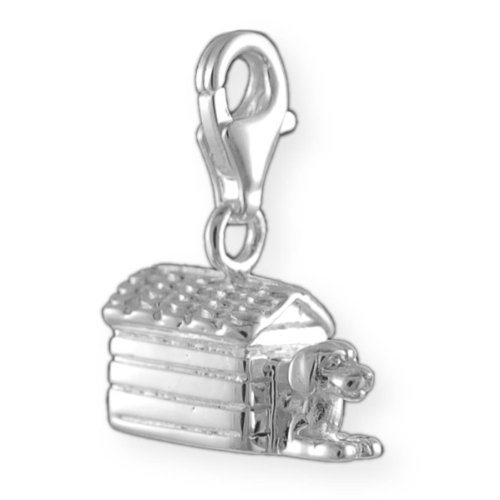 Melina Damen-Charm Anhänger Hundehütte 925 Sterling Silber 1800631