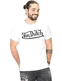 8326b70d224 Von Dutch Vondutch - T-Shirt Homme Best Blanc Imprimé Noir